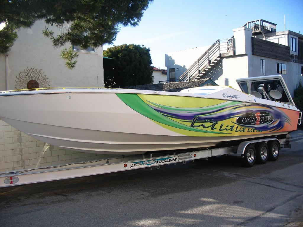 South Florida Trailer Cigartte boat trailer