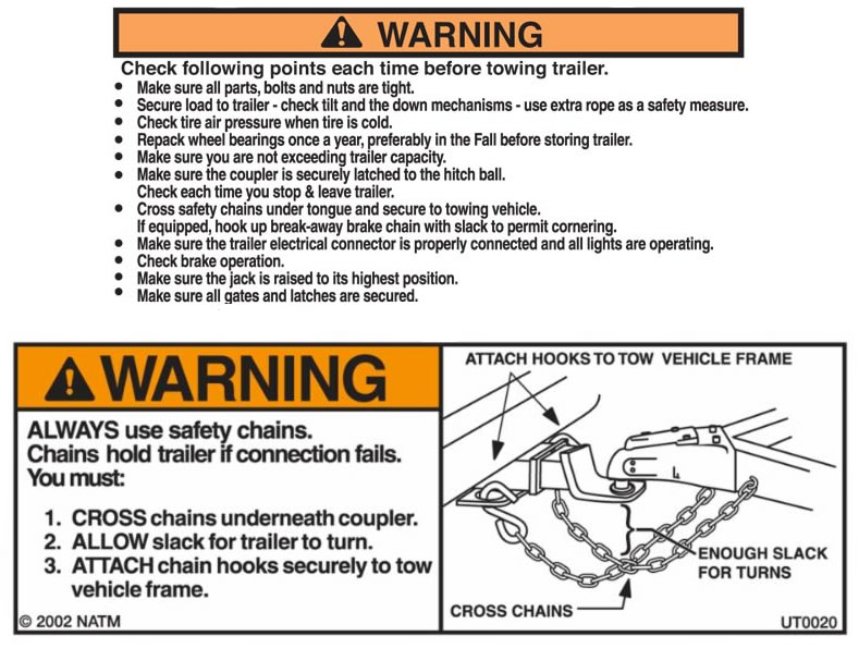 Boat trailer towing and safety tips