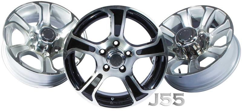j55 aluminum boat trailer wheels
