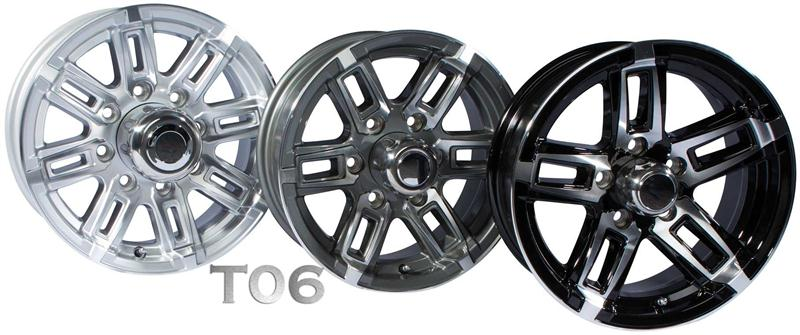t06 aluminum boat trailer wheels
