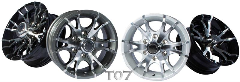 t07 aluminum boat trailer wheels
