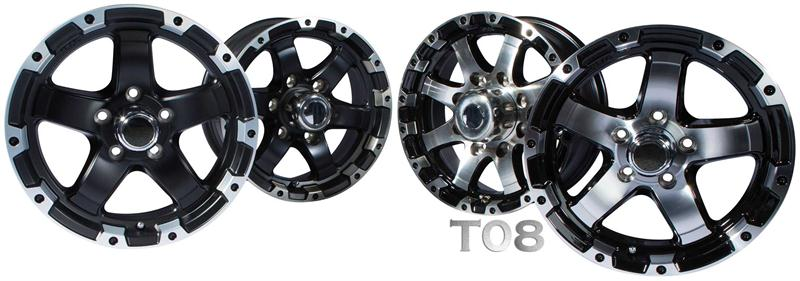 t08 aluminum boat trailer wheels