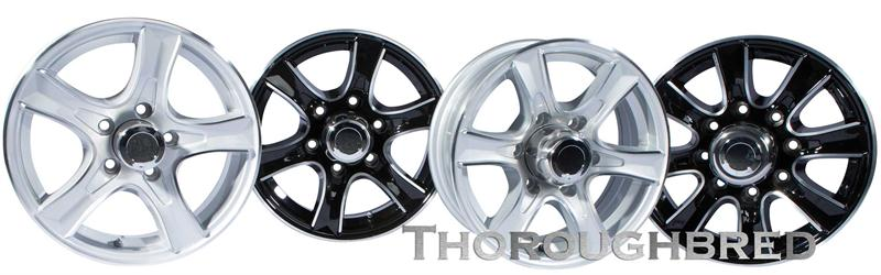 thoroughbred aluminum boat trailer wheels